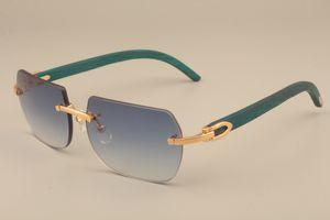 B8100906 azul sólido de madera templos gafas de sol de las mujeres de los hombres y las gafas de sol de marco de madera decorativos de todo tamaño gafas de sol naturales: 56-18-135mm