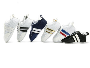 2018 New Fashion Sneakers Newborn Baby Crib Shoes Ragazzi Ragazze Infant Toddler Soft Sole primi camminatori Baby Shoes