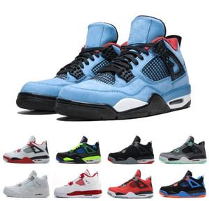 Männer Basketball Schuhe Travis X Designer Schuh 4 Houston Oilers 4s Kaktus Jack Pure Geld Raptors Zement Schwarze Katze Gezüchtet Motosports Sneakers