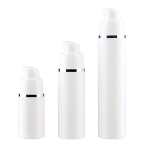 15 30 50ML Empty refillable white high-grade airless vacuum pump bottle Plastic cream lotion Container Tube Travel Size