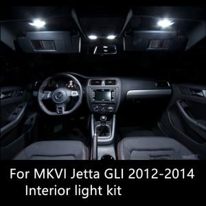 Kit de luz interior Shinman 9X para VW MK6 Jetta6 GLI 2012-2014 Bombilla Led Lámpara de lectura de alto brillo Accesorio de luz interior del coche