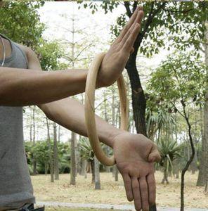 Kung Fu Anel para Treinamento de Força Pulso Mão Artes Marciais Tradicionais De Madeira Manequim Wing Chun Anel Rotan
