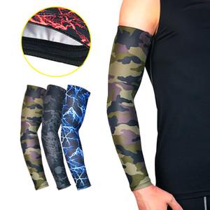 1 Para Qualität Hohe Elastische Männer Sport Langen Arm Ärmel Warmers Basketball Schießen Ellenbogenschutz Schutz Stretch Gepolsterte Unterstützung Schutz