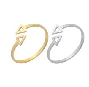 힙합 화살표 조절 가능한 반지 스테인레스 스틸 한 방향 Double Arrow Ring Bagues 연인을위한 빈티지 빈티지 약혼 선물