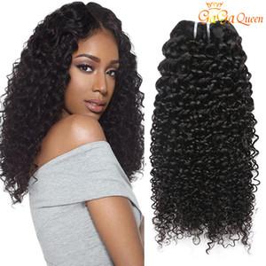 저렴한 브라질 헤어 위브 번들 브라질의 곱슬 곱슬 인간의 머리카락 확장 100 % 처리되지 않은 브라질의 아프리카 곱슬 곱슬 곱슬 머리 뭉치