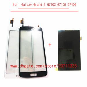 A qualidade LCD com painel de toque Para Samsung Galaxy Grande 2 G7102 G7105 G7106 G7108 LCD Screen Display Digitizer + sensor de toque de lente de vidro