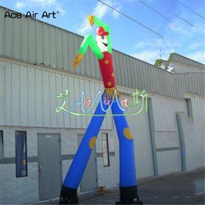 Venta caliente fly tube publicidad inflable doble pierna bailarina de aire, inflable dos tubos danza del aire danza viento viento hombre en descuento
