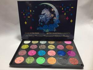 A ++ Quality Glow In The Dark UNI Палитра теней для век с блестками 24 Ультра-кремовые пигментированные оттенки с блестками Игристые блестящие палитры для макияжа