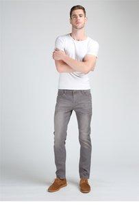 Kardeş Wang erkek Ince Moda Kot Yüksek Kaliteli Erkek Elastik Gri Sıska Eğlence Kot Marka Giyim