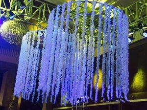 2021 Romantica seta fiori artificiali fiori di nozze simulazione di simulazione glicine vite pianta lunga casa stanza ufficio giardino giardino arco decorazione fiori