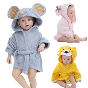 어린이 사자 마우스 양 목화 목욕 가운 0-1T 모자 아기 수건 사랑스러운 공주 바람 목욕 타월 망토 바디 로브 54 * 60cm