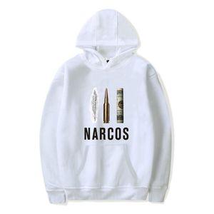 New  high quality Narcos Pablo Escobar Hooded Hoodies Streetwear pen dollars Silver or Lead Cap Sweatshirts Tops H027H027