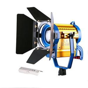 Comercio al por mayor 1500W 5400K LED Color Temp Studio Fresnel Tungsten Video Foto Luz Barndoor Dichroic Wireless Remote