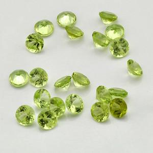300pcs / lot de alta qualidade 100% Natural Peridot verde 5 tamanhos Brilliant corte redondo Gemstone solto 2,5 milímetros-5 milímetros Para Gold Silver fazer jóias
