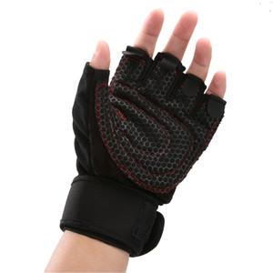 Luvas Ginásio Sports metade do dedo luvas respirável Halterofilismo fitness Anti Slip elevação Homens Mulheres Peso Ginásio Luvas Tamanho M / L / XL