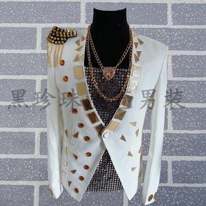 Men Lenses Suits Designs Homme Terno Stage Costumes For Singers Men Sequin Blazer Dance Clothes Jacket Star Style Dress Punk