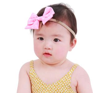 16pcs nouveau-né DOT Papillon Bow bande élastique cheveux filles Turban Knot Bandeaux DOTS ARCS Chapeaux Accessoires de cheveux HC105