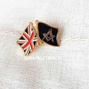 Regno Unito Bandiera del Regno Unito Massone Massone Pin Smalto Morbido Spilla e spilla Liberi massoni Distintivo di amicizia Metal Craft Lodge