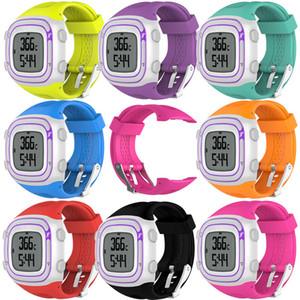 25 cm e 22 cm esportes silicone watch strap para garmin forerunner 10 15 gps esportes correndo relógio substituição banda com ferramentas