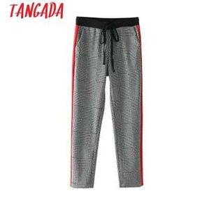 Pantaloni da uomo pied de poule Tangada per pantaloni femminili Pantaloni da lavoro eleganti da donna a vita laterale a strisce