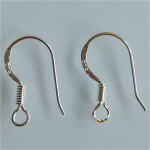 200pcs lot hot Sterling 925 Silver Earring Findings Fishwire Hooks Jewelry DIY 15mm fish Hook Fit Earrings