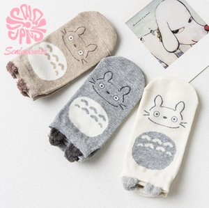 3 Pairs lot Women's Socks Winter Cartoon Cute Cat Face Girls Ankle Socks Female Breathable Gentle Color Ladies Funny Sock Meias