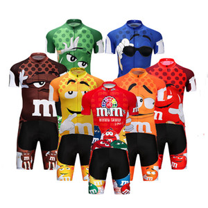 2019 Pro Cartoon Team 사이클링 저지 짧은 9D 세트 MTB 자전거 의류 Ropa Ciclismo Bike Wear Clothes Mens Maillot Culotte