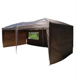 Оптовые продажи 3 х 6 м два окна практичный водонепроницаемый складной палатка темный кофе открытый кемпинг палатка