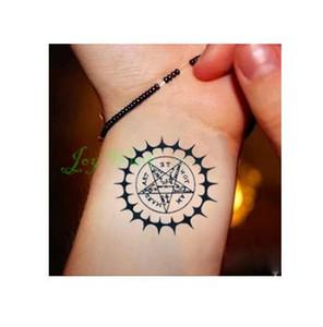 Wasserdicht Temporäre Tattoo Aufkleber Black Butler Vertrag Symbol Kompass Anime Tatto Flash Tattoo Fake Tattoos für Männer Frauen