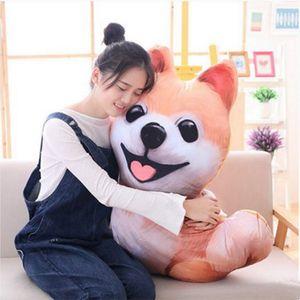 Dorimytrader pop 3D animal Corgi oreiller en peluche Shiba Inu chiens jouet de bande dessinée Pomeranian Dachshund peluche poupée décoration créative DY61908