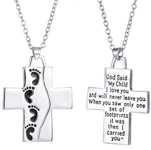 Collar con letras cruzadas de Jesús del pie, Mi hijo te amo Collar del día de la madre Collar del pie, 30 uds.