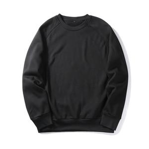 Fleece Casual Men Solid Hoodies EU SIZE Thick hip hop Sweatshirts Pullover Streetwear Mens Sportwear Jogger Tracksuit High Quality WY19