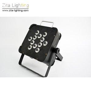 8 Pçs / lote Zita Iluminação LED Bateria Plana Luzes Par Recarregar 4IN1 Mini Par Latas de Iluminação de Palco Da Parede Arruela DMX512 DJ Discoteca Festa Efeito