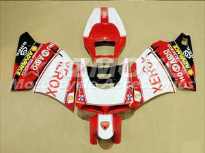 Molde de inyección Carenados completos para Dukati 748 916 996 998 1994 1995 2002 Dukati 748 916 996 998 94 02 Motorcycle Red X46