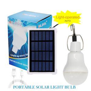 Edison2011 Solar tragbare 12LED Glühbirne Solar Panel Lampe USB Powered wiederaufladbare Laterne Lichter Lampen für Home Shed Barn Indoor