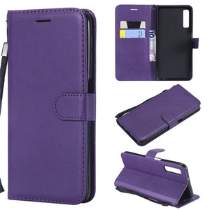 Чехол-кошелек для Samsung Galaxy A7 2018 A750 откидная задняя крышка Pure Color искусственная кожа сумки для мобильного телефона Coque Fundas