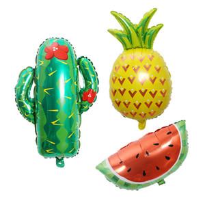 Yüksek Kaliteli Kaktüs Balonlar Meyve Folyo Doğum Günü Partisi Dekorasyon Ananas Karpuz Balonlar Yenilik Oyuncaklar Ücretsiz Kargo Toptan