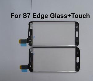 جديد الخارجي شاشة LCD جبهة زجاج + قطع غيار تعمل باللمس لسامسونج غالاكسي S7 حافة شاشة تعمل باللمس