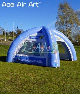 Customized Sky blue abnehmbare transparente Wand aufblasbare Spinne Zelt, Auto Abdeckung Zelt / bar Zelt mit freiem Luftgebläse und frei logo