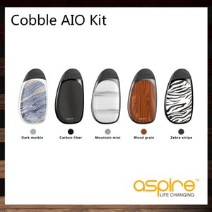 Aspire Cobble AIO Kit con 1.8ml Reemplazo 1.8ml Pod Cartridge Batería incorporada 700mAh 1.4ohm BVC Ni Coil 100% Original