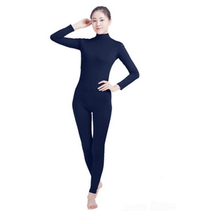 (SWH026) Dark Blue Spandex Full Body Skin Tight Jumpsuit Zentai Suit Bodysuit Costume for Women Men Unitard Lycra Dancewear