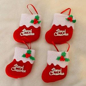 Новогодние украшения для дома Christams чулки конфеты мешка чулка Висячих дерев Украшение Украшение 8 * 8 см Нового года