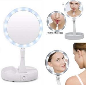 Yeni My Fold Away LED Makyaj Aynası Çift taraflı Rotasyon Katlanır USB Işıklı Makyaj Aynası Dokunmatik Ekran Taşınabilir Masa Lambası