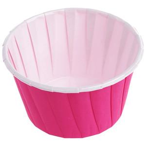 Torta di carta per dolci Cupcake Custodie Fodere Muffin Dessert Wedding Party Colore: caffè 50 pezzi / borsa