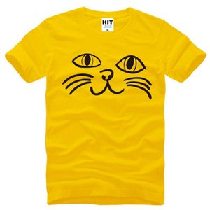 Cat Face Meow Cute Cartoon gedruckt T-Shirt Männer Sommer Stil Kurzarm O-Neck Baumwolle Herren T-Shirt Neue lustige T-Shirt Homme