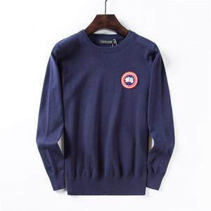 Canadá Diseño para hombre de suéter de lana casual Goo patrón de la moda con capucha M-2XL del negocio del estilo O Cuello de manga larga