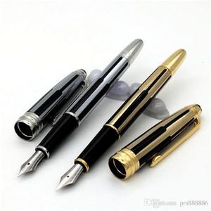 Best Sellers de alta qualidade preto e ouro listras roller ball pen / esferográfica de luxo caneta Caneta de presente por atacado canetas de luxo