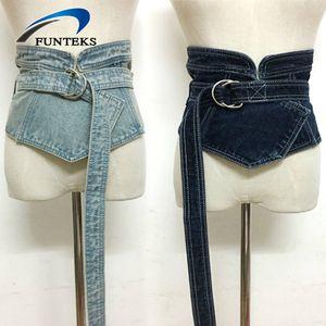 vendita all'ingrosso solido cintura larga moda irregolare cintura di jeans per le donne fasciatura regolabile vestito cintura tutto fiammifero Ceinture Femme
