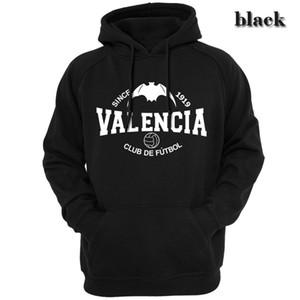 Spagna classica Valencia Uomo Unisex Felpe Felpe Cappuccio Capispalla Abbigliamento casual Moda fan club FC Simone Zaza Guedes