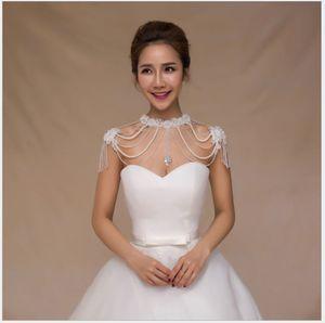 2018 novo vestido de noiva, colar de ombro, cadeia de ombro de noiva de renda, lenço coreano, xale de borla, acessórios de noiva high-end.